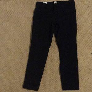 Black cropped work pants